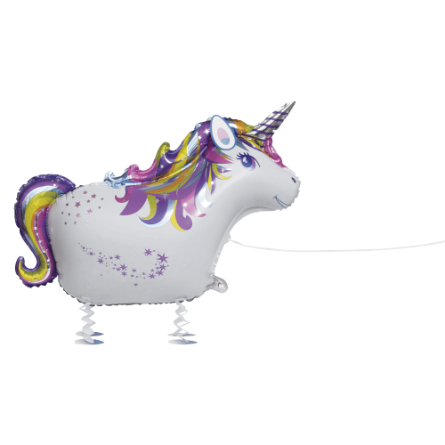 Walking Pet Unicorn Foil Balloon